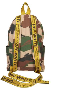 Off-White camouflage backpack Camouflage Backpack, White Backpack, Backpack Travel Bag, Off White Clothing Brand, Off White Bag, Monogram Jacket, Urban Gear, Virgil Abloh, Photography Poses For Men
