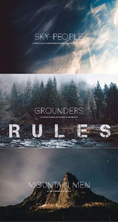 [Welcome to earth]  RULES; cussing is allowed, relationships are ok (don't forget to ask when it comes to canon characters) ~  In your character's bio it would be best which group you belong to~  Canon characters are limited so ask which ones are taken [Lexa is reserved as is Bellamy]  OCs are welcomed! ~ Script/literate rp is good[no text lingo]~ refrain from triggers like suicide/cutting