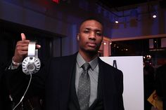 Damian Lillard NBA & JBL Synchros headphones