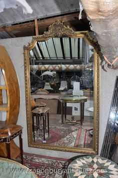 Photo of Large Victorian Gilt Pier Mirror Gilt Frame Glass Mirrors