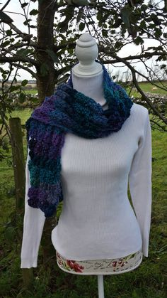 Scarf Shell Crochet Multicolored by LavishHoops on Etsy Chunky Scarves, Cowls, Scarfs, Winter Coat, Looks Great, Your Style, Shells, Crochet, Sweaters