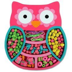 Stephen Joseph Owl Bead Boutique Jewelry Kit and Keepsake Box for Girls