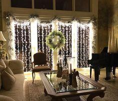 W h o a. Now THIS is is a fresh way to hang Christmas lights, @chathamhouseinteriordesign! ❄️✨❄️✨ #BHGCelebrate