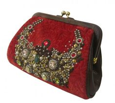 A vintage style embroidered bag by Kolkata's most famous fashion designer Clutch Purse, Coin Purse, Potli Bags, Embroidered Bag, Beaded Purses, Sabyasachi, Vintage Purses, Embroidery Designs, Vintage Fashion