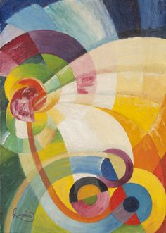 František Kupka  (Czech, 1871–1957)  Untitled  1912  Oil on canvas. František Kupka was a Czech painter and graphic artist. He was a pioneer and co-founder of the early phases of the abstract art movement and Orphic cubism.