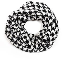 Checkmate Scarf ($38) ❤ liked on Polyvore featuring accessories, scarves and black and white scarves