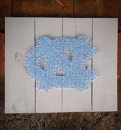 Custom String Art - UNC Tar Heels logo - University of North Carolina at Chapel…