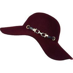 Chapeau mou violet foncé à galon noir - Chapeaux - Accessoires - femme