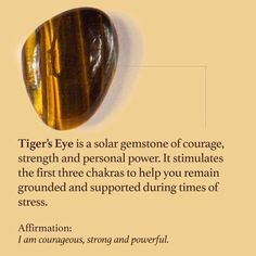 Tiger's Eye need this right now for strength