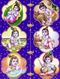 Krishna Leela Krishna Leela - Hindu Posters (Reprint on Paper - Unframed) Krishna Hindu, Krishna Leela, Jai Shree Krishna, Cute Krishna, Krishna Radha, Iskcon Krishna, Lord Krishna Images, Krishna Pictures, Krishna Photos