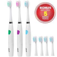 Sonic listrik sikat gigi dalam bersih gigi perawatan gigi sikat gigi kebersihan mulut pemutih non-rechargeable untuk dewasa sg-612