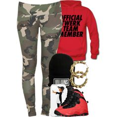 A fashion look from November 2013 featuring red hoodies, army camo leggings and neon earrings. Browse and shop related looks. Sporty Outfits, Swag Outfits, Dope Outfits, Girl Outfits, Summer Outfits, Fashion Outfits, Swag Style, Style Me, Dope Fashion