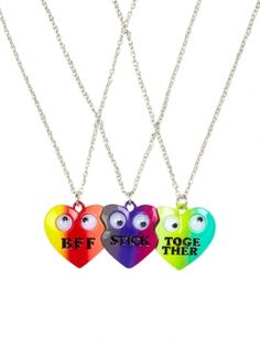 BFF Stick Together Heart Necklaces