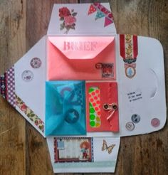 ♥♥ ✉ Tante Tee's: Snail mail voor Mariska. (inside) ✉ Snail mail art at its best.