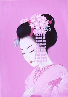 Spring Geisha by Ichiro Tsuruta