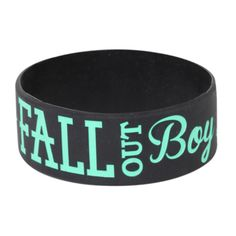 Fall Out Boy Anchor Rubber Bracelet | Hot Topic ($5.60) ❤ liked on Polyvore