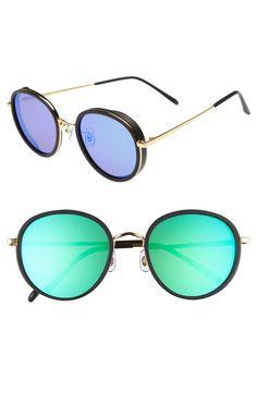 7c8bd6fe9c3c 53mm Round Retro Sunglasses Latest Sunglasses