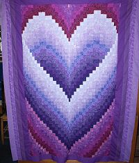 Honeymoon Heart Quilt                                                                                                                                                                                 More