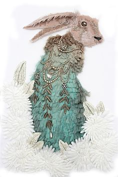 The beautiful work of textile artist Karen Nicol is a must see and in her newest series of mixed media creations: The Edge of the Woods, Nicol pushes the Creative Textiles, Textile Artists, Embroidery Art, Embroidery Boutique, Embroidery Designs, Art Plastique, Fabric Art, Medium Art, Fiber Art