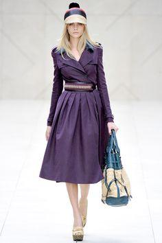 Love this color. Coat Dress, Burberry Prorsum Spring 2012