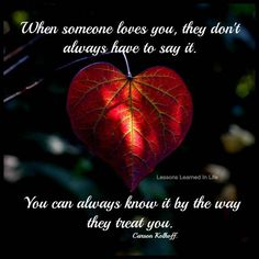 When someone loves you..