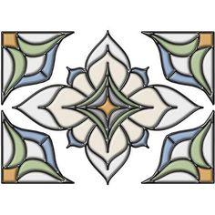 Alden Stained Glass Appliqué Window Sticker