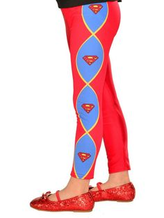 8548cda55 Check out Girls Supergirl Footless Tights from Wholesale Halloween Costumes  Supergirl Outfit