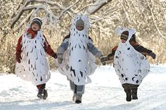 DIY Paper Winter Costumes for Kids