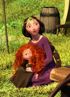 Queen Elinor with her daughter, Merida (Brave) watch this movie free here…