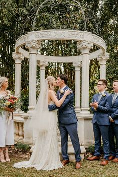Garden Wedding in Queensland. Boho luxe wedding dress and large bridal party. Ceremony and reception venue Laloli Gardens, Cairns. Luxe Wedding, Wedding Dress, Wedding Day, Large Bridal Parties, V Hair, High School Sweethearts, Flower Market, Cairns, Photo Location