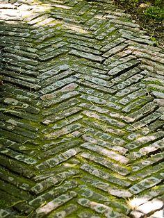 herring bone brick path