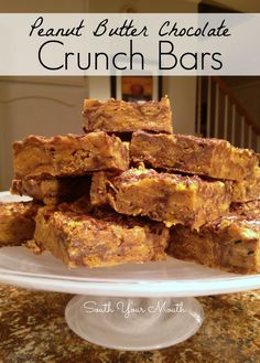 South Your Mouth: Peanut Butter Chocolate Crunch Bars