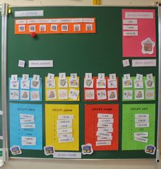 Present and absent School Organisation, Classroom Organization, Classroom Decor, Classroom Management, Class Management, Petite Section, Grande Section, Calendar Time, French Resources