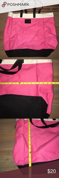 Victoria's Secret travel tote NWOT Victoria's Secret travel tote NWOT. Measurements shown in picture. Sturdy harder material bag basically self standing. Like a soft plastic with cloth lining over it. Victoria's Secret Bags Travel Bags