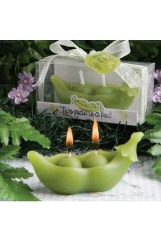 Cheap Green Color Peas Candle for Sale