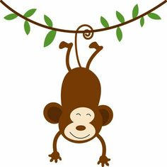 monkey clip art hanging monkey clip art vector clip art online rh pinterest com  hanging monkey clipart black and white