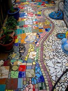 MOSAIC TILE IDEAS : : More At FOSTERGINGER @ Pinterest (Diy Garden Floor)
