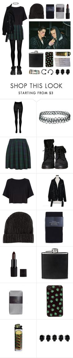 """""""Grunge set"""" by baludna ❤ liked on Polyvore featuring SPANX, Topshop, Zara, H&M, BLACK BROWN 1826, O-Mighty, Chanel and D.L. & Co."""