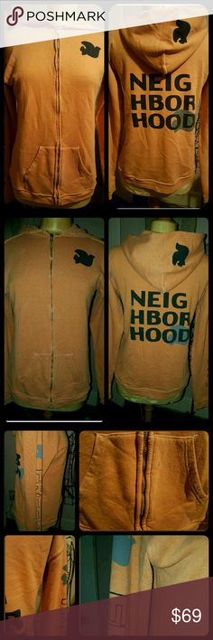 Free City Let's Go Neighborhood Zip up Hoodie Well worn & lived in /Loved In! That Being said there is a ton of pilling on this as these tend to acquire after wearing and laundering, personally i use a pumice stone to take it off as I own a ton of these ,seems all I wear these days! Specially since no longer an office drone! Missing drawstring at neckline, Tagged a 3 which is usually L,but has been worn and shrunk would fit a med or small if u like roomy fit if large would be very fitted…
