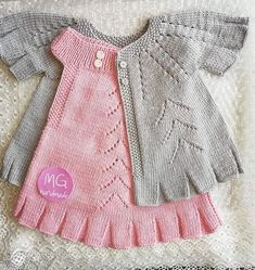 # guotation # amigurumi # weave, - The Notebook Baby Cardigan, Knit Baby Dress, Baby Pullover, Baby Knitting Patterns, Baby Patterns, Free Knitting, Baby Girl Sweaters, Knitted Baby Clothes, Diy Crafts Dress