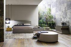 Novamobili Polsterbett Twiggy. Weich gepolstertes Kopfteil #Schlafzimmer #Bett #Interior #Bedroom #Bed