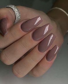Acrylic Nails Nude, Nude Nails, How To Do Nails, Hair Beauty, Make Up, Hair Styles, Nail Art, Gifts, Beige Nail