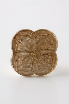 Inlaid Filigree Knob, Linen - Anthropologie.com --- knobs for armoire & dresser