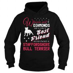 Custom Names  Diamonds girl Staffordshire Bull Terrier  T-Shirts