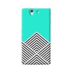 Chevron Mint Sony Xperia Z Case from Cyankart