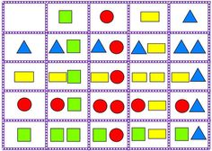 Logika - tvary1 Preschool Games, Preschool Worksheets, Preschool Crafts, Activities For Kids, Sudoku, Math Magic, Logic Puzzles, Color Games, Matrix