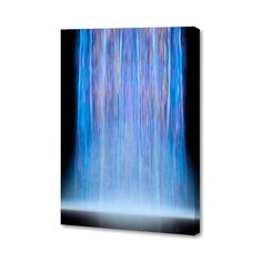 Halcyon - Waterfall - Menaul Fine Art: Abstract Art by Tampa Bay Artist Scott J. Modern Fine Art Prints, Mixed Media Techniques, Beautiful Words, Wrapped Canvas, Graphic Art, Waterfall, Abstract Art, Objects, Frame