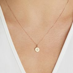 Small Silver Or Gold Personalised Disc Pendant Necklace