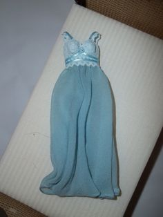BEAUTIFUL FULL LENGTH NIGHTGOWN - LIGHT BLUE - DOLL HOUSE MINIATURE 1:12 SCALE