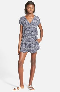 Mimi Chica Print Ruffle Romper (Juniors) available at #Nordstrom